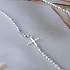 acc110 십자가 은팔찌/은목걸이